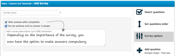 Surveys Compulsory