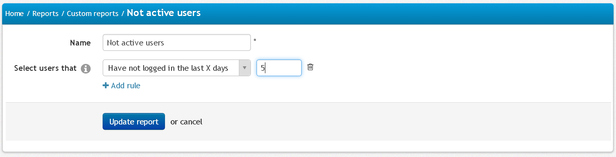 Picture 1: Select users without activity