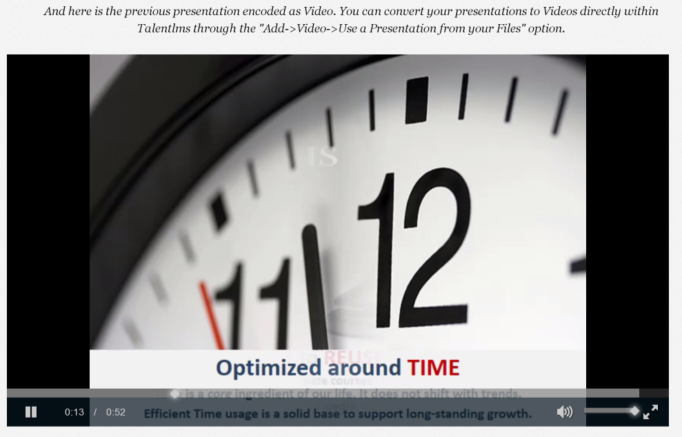 Converting presentations to videos is easy and powerful