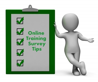 online training survey tips