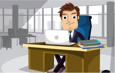 employee working with elearning course_reflective practice