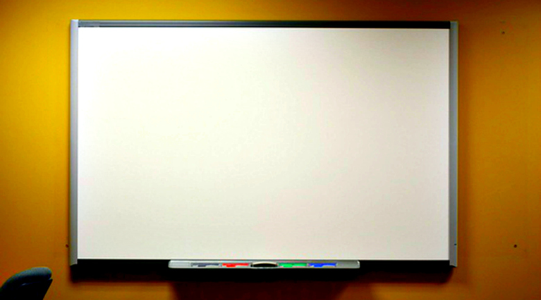 whiteboard - a piece of traditional synchronous elearning