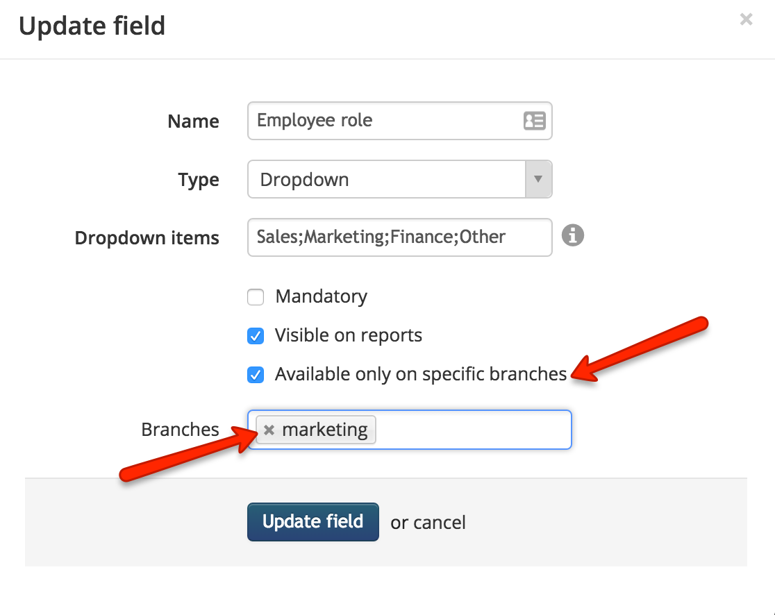 Custom Fields in TalentLMS' Branches