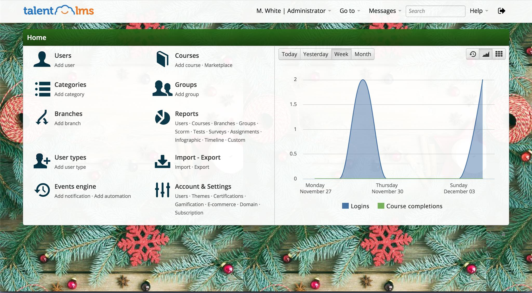 Decorate your TalentLMS portal for the holidays with these tips! - TalentLMS Blog