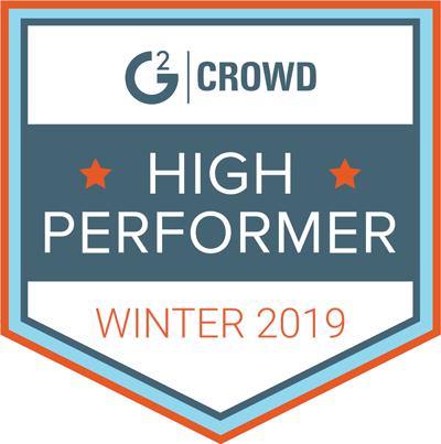 g2crowd high performer badge