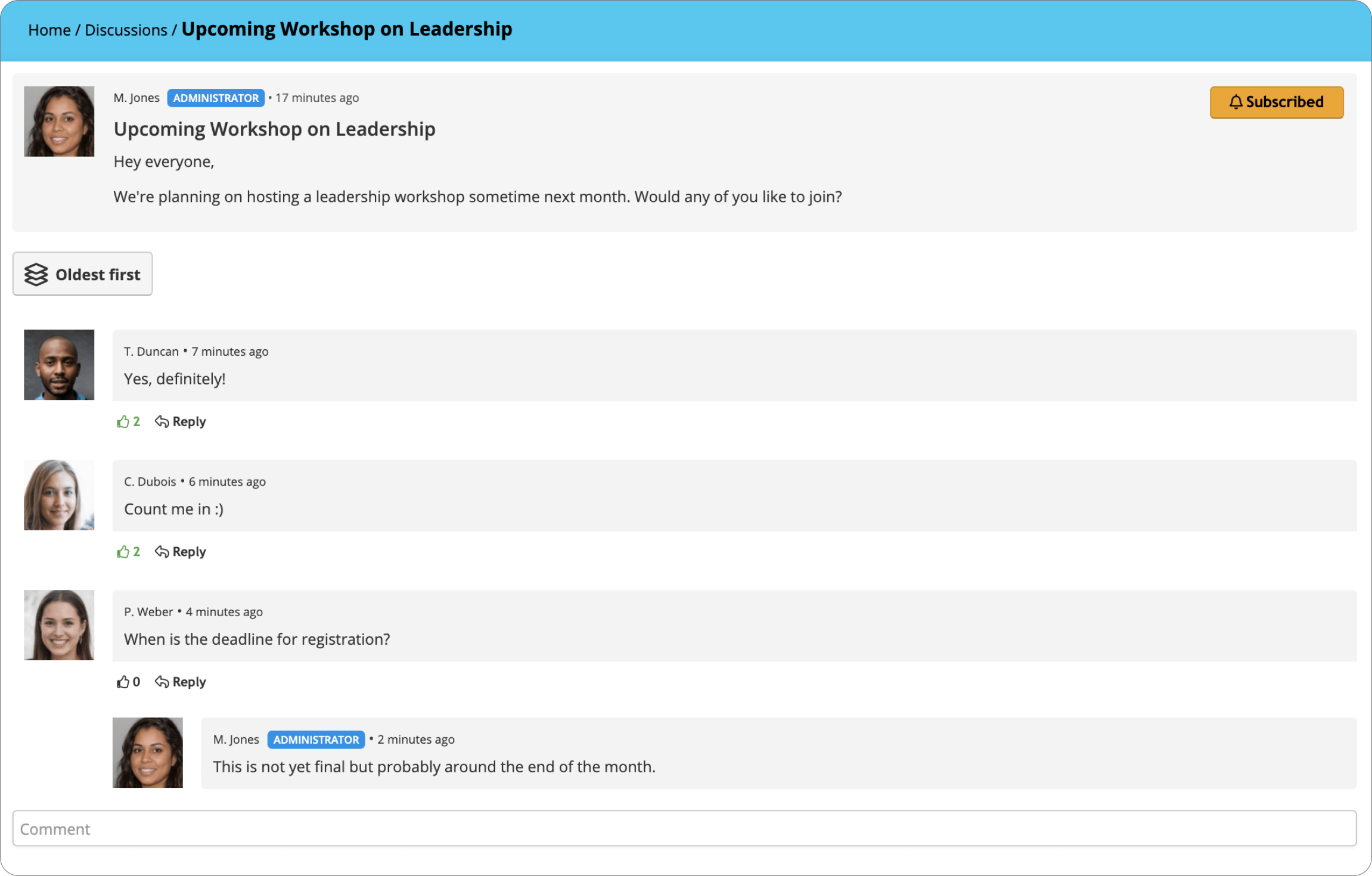 TalentLMS Spring 2021 Update - Subscribe to Discussions