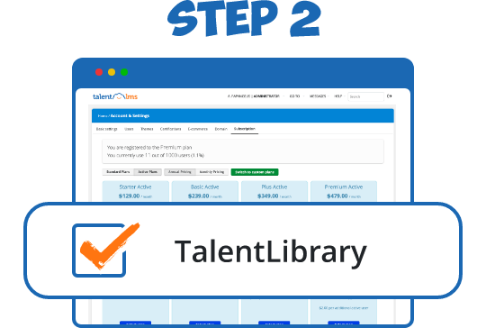 Choose a TalentLibrary™ plan