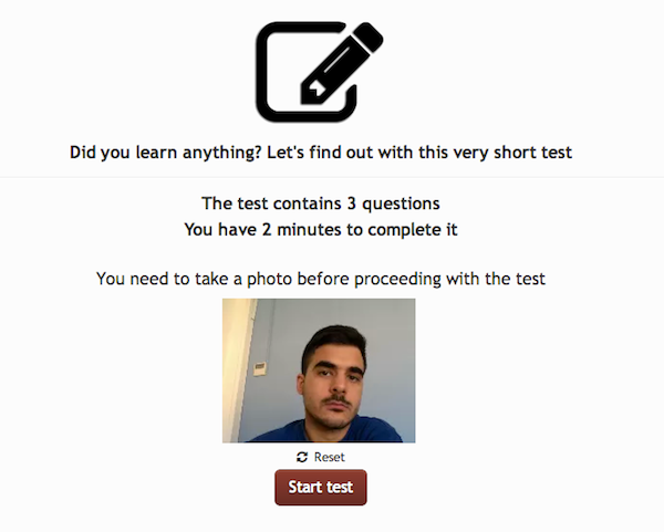 Picture Taken_prevent cheating in elearning