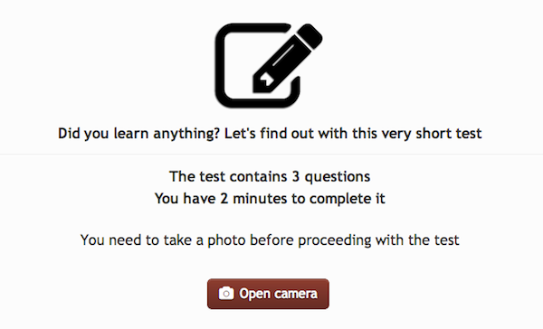 Take Picture_prevent cheating in elearning