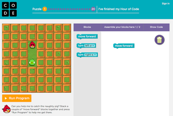 Hour of Code Example 1