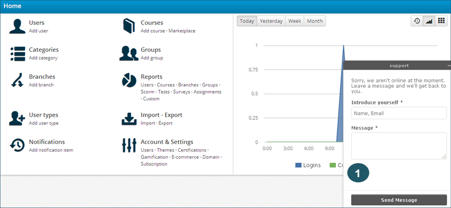 talentlms zopim integration screenshot 3