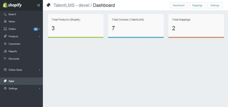 talentlms shopify integration dashboard
