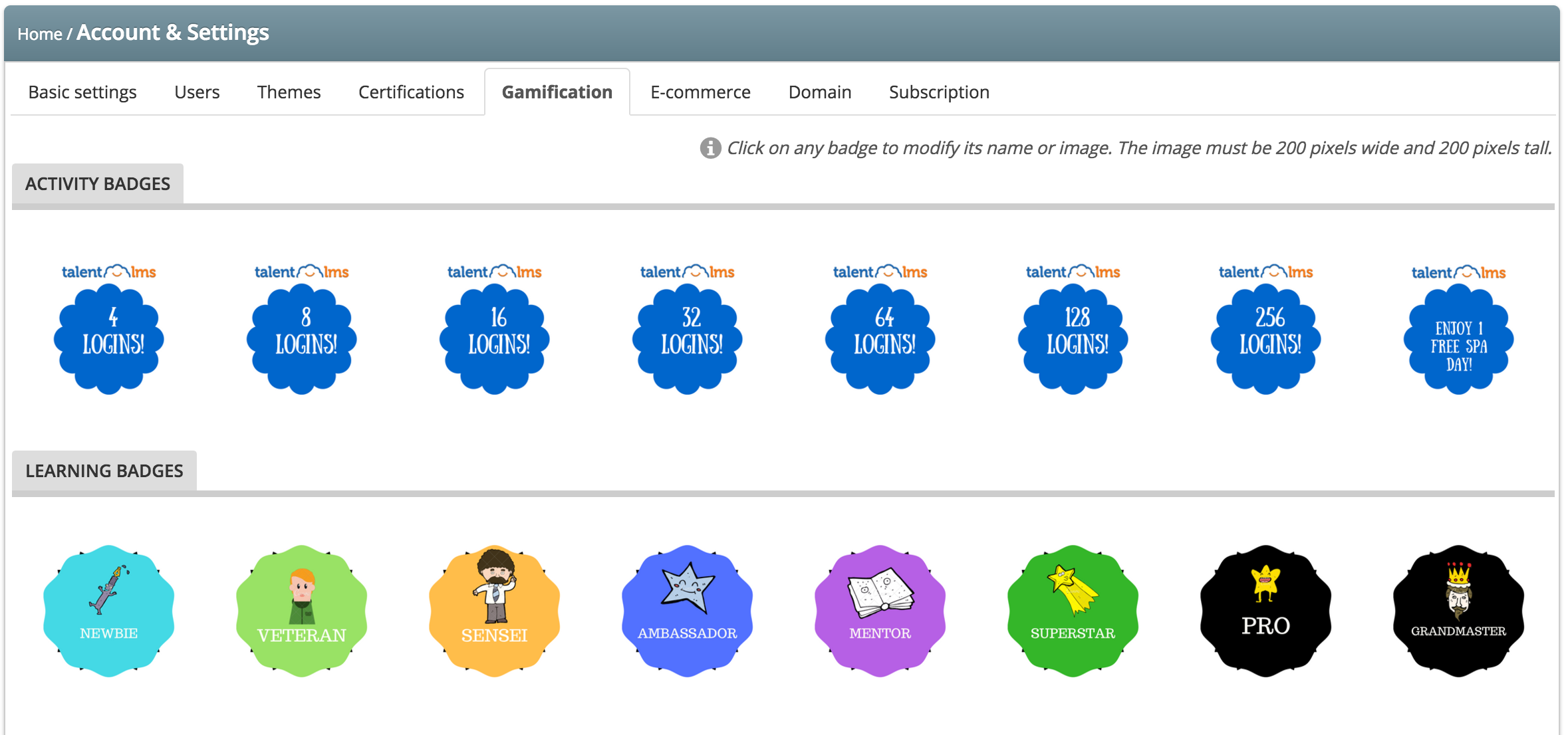 Customize Badges - TalentLMS' Gamification Engine
